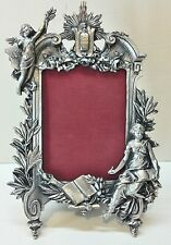Large Vintage Angel Pewter Picture Frame