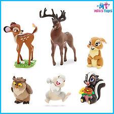 Disney Bambi 6 Piece Figure Figurine Cake Topper Play Set brand new Thumper
