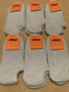 No Nonsense Shortie Slipper Socks (6 Pairs All Blue) Super Soft and Comfy