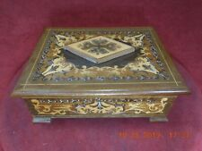 ITALIAN SORRENTO MUSICAL JEWELRY BOX WITH REUGE 1 TUNE 18 NOTE MUSICAL MOVEMENT
