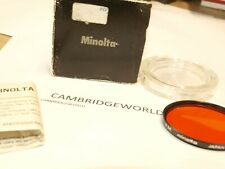 MINOLTA 55mm 056 ORANGE NEW SCREW in OPTICAL GLASS FILTER with METAL RING in BOX