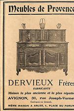 AVIGNON ARLES MEUBLES DERVIEUX PUBLICITE ADVERTISING 1930