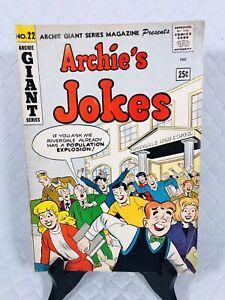 ARCHIE COMICS * ARCHIE'S JOKES * GIANT ❤️ #22 1963 💄 SILVER AGE VG
