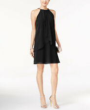 Sl Fashions Layered Shift Dress Size 12 MSRP $79 #EN 1851