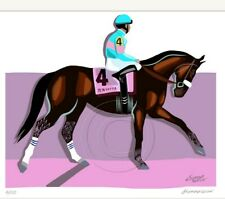 Inspired By Zenyatta Collectible Racing Art Print Signed Thoroughbreds SFASTUDIO