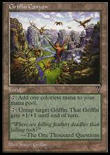 MTG Griffin Canyon x4 Visions ENGLISH MP Rare Land