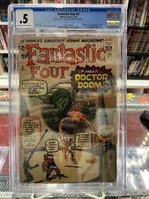 FANTASTIC FOUR #5 CGC 0.5 1ST APP DOCTOR DOOM MARVEL COMICS