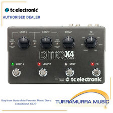 TC Electronic Ditto X4 Guitar Looper Effects FX Pedal with Midi Sync