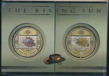 Australia: Rising Sun Hat Badge Medallion set, 5 diff Risings Sun stamps . ANZAC