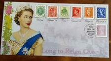 More details for ***gb 2015 qeii long to reign ltd edi no.100 special bradbury fdc see scans