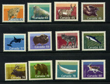 Canada Sc1170-1180 Mammal Defins Mnh Fv$7.26 Wolf, Walrus, Grizzly, Beluga Whale