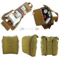Tactical Molle First Aid EMT Pouch Medical Bag Utility EDC Pack Outdoor Tool Bag