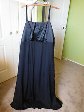 CURVACEOUS Long Black Evening Dress w/Spag Straps - Prom Dress -Size M (20)
