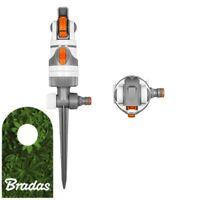 4 Funktionen Kreisregner Rasensprenger 350 qm Impulsregner Sprinkler Bradas 5459