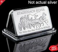 Stagecoach Fine Silver .999 1 Troy Oz  Bullion Bar Gift Collection Decoration