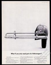 1962 VW Beetle classic car front bumper photo Volkswagen 13x10 print ad