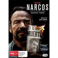NARCOS-Season 3-Region 4-New AND Sealed-4 DVD Set-TV Series