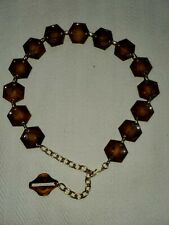 Vintage 70's Tortoise /Amber swirl/Lucite chain Belt Excellent, 39 inches