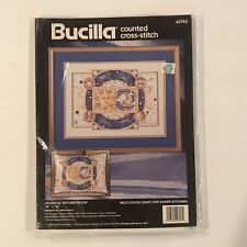 "NIP 1993 Celestial Picture or Pillow Counted Cross Stitch Kit By Bucilla 16""x12"""