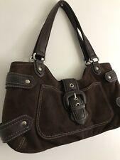 NINE WEST Brown Faux Leather Small Shoulder Handbag Magnetic Snap Closure