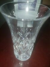 GIFT VASE CRYSTAL GLASS STUART CRYSTAL HOME DECO HEAVY OCCASION COLLECTORS