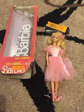 My First Barbie #1788 Mattel 1986 Ballet Ballerina vintage With Box