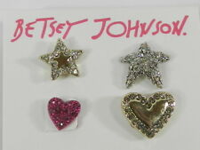Betsey Johnson Mystic Baroque Queens Crystal Heart & Star Earring Set