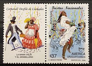 "URUGUAY - POPULAR FESTIVALS ""CARNAVAL: DESFILE DE LLAMADAS"" - MNH STAMP"