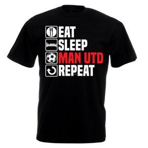 eat sleep man utd repeat t shirt football sport mens ladies unisex kids