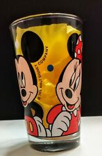 New listing Vtg Mickey Mouse Minnie Mouse & Donald Duck Walt Disney Drinking Juice Glass