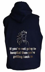 Personalised horse pony funny saying phrase hospital hoodie or zoodie
