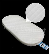 Baby Crib / Moses Basket Bed Foam MATTRESS with Quilted Breathable Zip Cover
