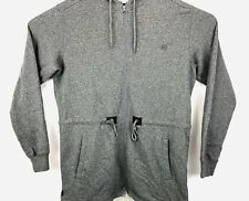 Men's 10 Deep Drawstring Gray Full Zip Cotton Hoodie L