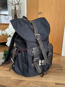 Black JEEP Drawstring Strong Backpack Medium School Outdoor Rucksack Bag