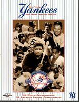 2003 Spring Training Baseball Program New York Yankees, Babe Ruth, Yogi Berra~VG