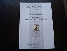 ALLEMAGNE - document 1er jour 9/10/1980 (B5) germany