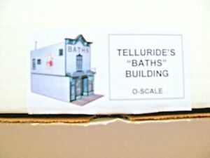 """O- Scale Telluride's """"Baths"""" Building Kit  Ragg""""s to Riches # BTH-0 New Un opene"""