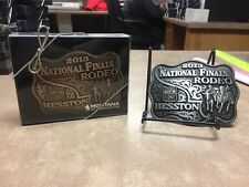 Set of 2 Hesston 2013 Brass & Pewter Rodeo Adult Belt Buckles