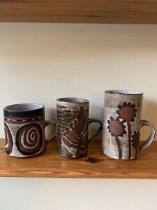 Briglin Studio Pottery 3 Mugs