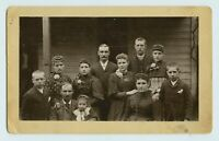 ICONIC FAMILY GROUP PORTRAIT - VICTORIAN FASHION - LARGE 5x8 CABINET PHOTO