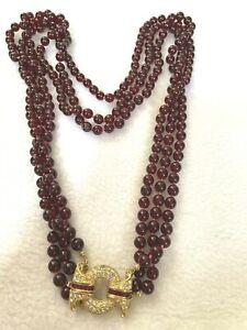 NOLAN MILLER Glamour Collection: Bordeaux Garnet Glass Bead Necklace