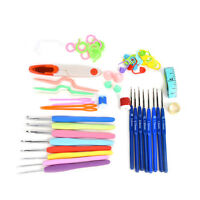 57PCS Crochet Hook Mix Knitting Tools Accessories Supplies With Case Knit Set