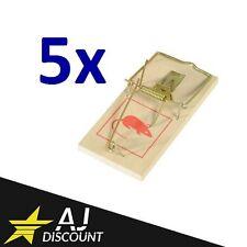 5x Tapette à souris / Anti rongeur / Piège à rat en bois