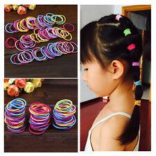 Kids Baby Girl 100 Pcs Elastic Hair Bands Ponytail Holder Head Rope Ties
