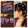 Kids Baby Girl 100 Pcs Elastic Hair Bands Ponytail Holder Head Rope Ties