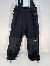Vintage 90's OG NORTH FACE Denali Fleece Pants Size Large Black - Full Zip Sides