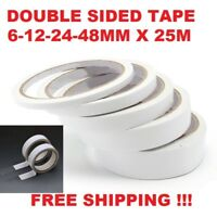 DOUBLE SIDED CLEAR SELLOTAPE STRONG TAPE ROLLS PERMANENT CRAFT SELF DIY ADHESIVE