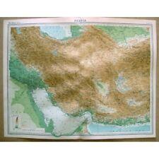 PERSIA Iran - Vintage Map 1922 by Bartholomew