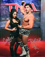 TNA SIGNED PHOTO ROBBIE E & COOKIE WRESTLING PROMO WITH PROOF COA WWE