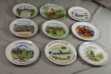 9 alte Andenken Porzellan Teller - Wandertag 1970er + 1980er Jahre   /S274